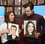 Sara Bareilles and Gavin Creel attend a photo call for cast change for the hit musical 'Waitress' on Broadway at Sardi's on January 4, 2019 in New York City.
