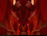 Eye of the Bear, Fractal Composite, Upper Antelope Canyon, Tse-Bighanilini, Slot Canyon, Lake Powell Navajo Tribal Park, Page, Arizona