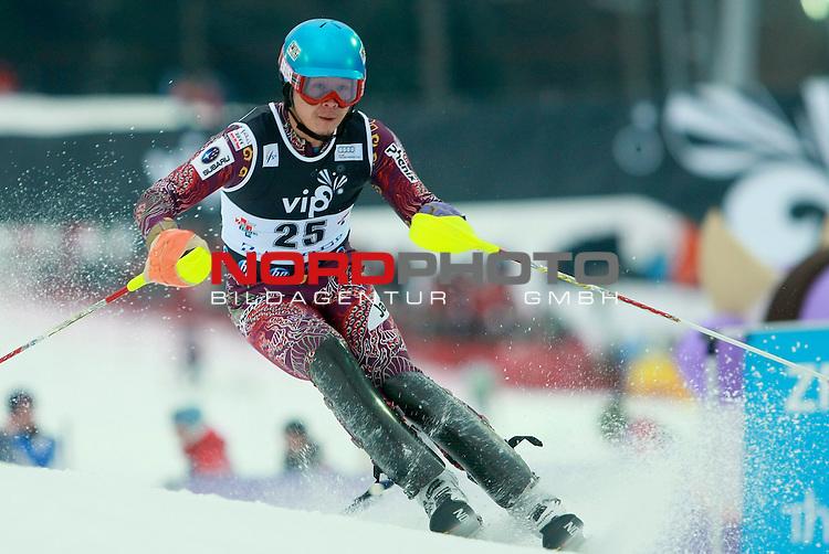 06.01.2011., Sljeme, Zagreb, Croatia - FIS Ski World Cup, Snow Queen Trophy, men slalom race, 1st run.<br /> Akira Sasaki.<br />                                                                                                   Foto:   nph / PIXSELL
