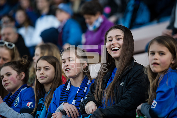 Seattle, WA - April 15th, 2017: Seattle Reign FC fans during a regular season National Women's Soccer League (NWSL) match between the Seattle Reign FC and Sky Blue FC at Memorial Stadium.