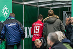 02.11.2019, wohninvest WESERSTADION, Bremen, GER, 1.FBL, Werder Bremen vs SC Freiburg<br /> <br /> DFL REGULATIONS PROHIBIT ANY USE OF PHOTOGRAPHS AS IMAGE SEQUENCES AND/OR QUASI-VIDEO.<br /> <br /> im Bild / picture shows<br /> Janik Haberer (SC Freiburg #19) verlässt den Platz nach Gelb-Rote Karte, <br /> <br /> Foto © nordphoto / Ewert