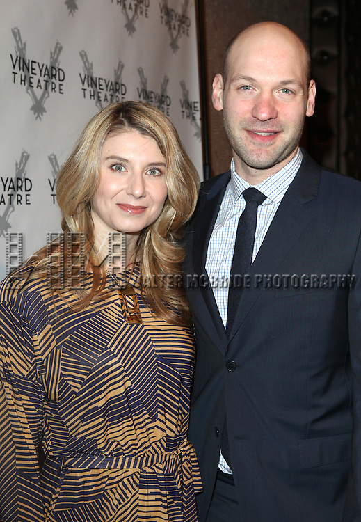 Nadia Bowers, Corey Stoll attending the Vineyard Theatre's 30th Anniversary Gala Celebration Cocktail Reception at the Edison Ballroom in New York City on 3/18/2013