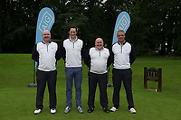 Rosapenna Team Martin McDermott, Frank Casey, Enda Kennedy and Donal Boyle during the final of the AIG Barton Shield Ulster Final Golf Club, Belfast, Northern Ireland. 27/08/2017<br />