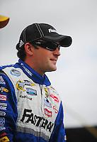 Oct. 3, 2009; Kansas City, KS, USA; NASCAR Nationwide Series driver Scott Wimmer during the Kansas Lottery 300 at Kansas Speedway. Mandatory Credit: Mark J. Rebilas-