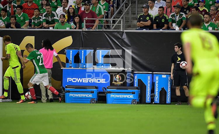 Houston, TX - Monday June 13, 2016: Sponsor during a Copa America Centenario Group C match between Mexico (MEX) and Venezuela (VEN) at NRG Stadium.