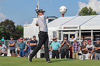 Ian Poulter (GBR) watches his tee shot on 17 during 4th round of the World Golf Championships - Bridgestone Invitational, at the Firestone Country Club, Akron, Ohio. 8/5/2018.<br /> Picture: Golffile | Ken Murray<br /> <br /> <br /> All photo usage must carry mandatory copyright credit (© Golffile | Ken Murray)