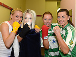 Catherine Russell, Gene McDonnell, Jenny and Maura Rogan  who took part in the White Collar Boxing at the O'Raghallaigh's. Photo:Colin Bell/pressphotos.ie