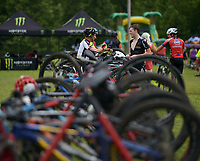 NWA Democrat-Gazette/BEN GOFF @NWABENGOFF<br /> Racers compete Sunday, July 16, 2017, during cross country races on the final day of the 19th annual Fat Tire Festival at Lake Leatherwood City Park in Eureka Springs.