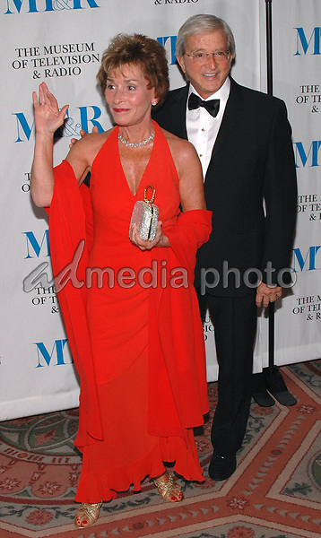 26 May 2005 - New York, New York - Judge Judy Sheindlin and her husband Jerry arrive at The Museum of Television and Radio's Annual Gala where Merv Griffin is being honored for his award winning career in radio and television.<br />