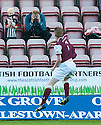 Arbroath's Alan Cook celebrates after he scores their third goal.