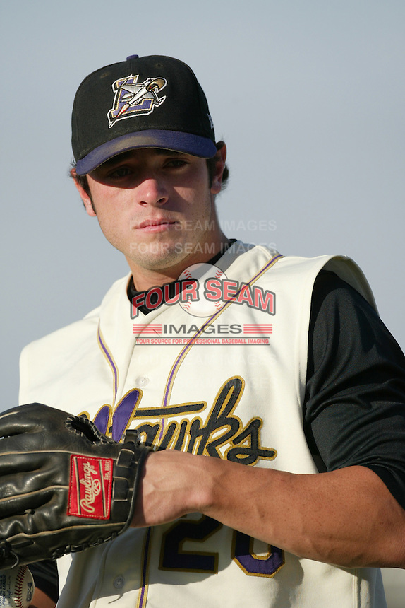 Jarred Ball of the Lancaster JetHawks runs the bases during a 2004 season California League game against the Lancaster JetHawks at The Hanger in Lancaster, California. (Larry Goren/Four Seam Images)
