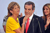 Eduardo Frei, candidate of the government coalition, delivers a speech to concede defeat in the runoff presidential elections in Santiago, Sunday, Jan. 17, 2010. Billionaire Sebastian Pinera, of the opposition center-right Coalition for Change, won the election ending two decades of center-left rul