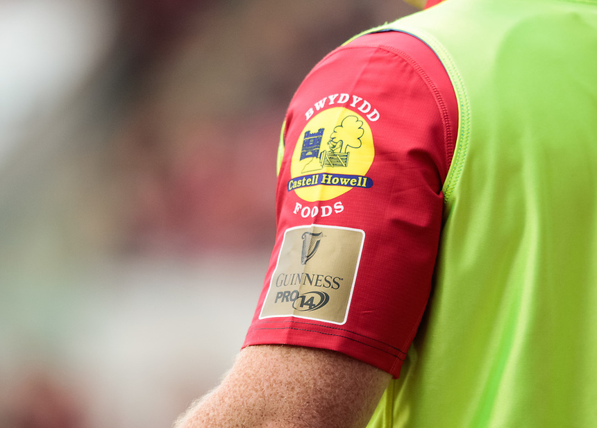 Pro 14 Branding on a players shirt<br /> <br /> Photographer Simon King/CameraSport<br /> <br /> Guinness Pro14 Round 1 - Scarlets v Southern Kings - Saturday 2nd September 2017 - Parc y Scarlets - Llanelli, Wales<br /> <br /> World Copyright &copy; 2017 CameraSport. All rights reserved. 43 Linden Ave. Countesthorpe. Leicester. England. LE8 5PG - Tel: +44 (0) 116 277 4147 - admin@camerasport.com - www.camerasport.com