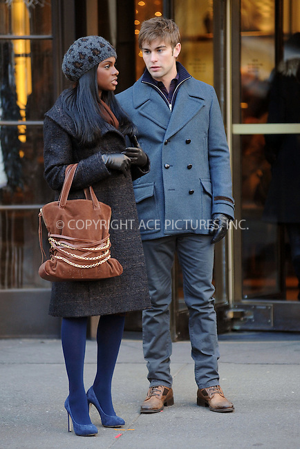 WWW.ACEPIXS.COM . . . . . .January 4, 2011, New York City....Tika Sumpter and Chase Crawford on the set of Gossip Girl on January 4, 2011 in New York City....Please byline: KRISTIN CALLAHAN - ACEPIXS.COM.. . . . . . ..Ace Pictures, Inc: ..tel: (212) 243 8787 or (646) 769 0430..e-mail: info@acepixs.com..web: http://www.acepixs.com .