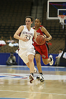 18 March 2006: Jillian Harmon during Stanford's 72-45 win over Southeast Missouri State in the first round of the NCAA Women's Basketball championships at the Pepsi Center in Denver, CO.