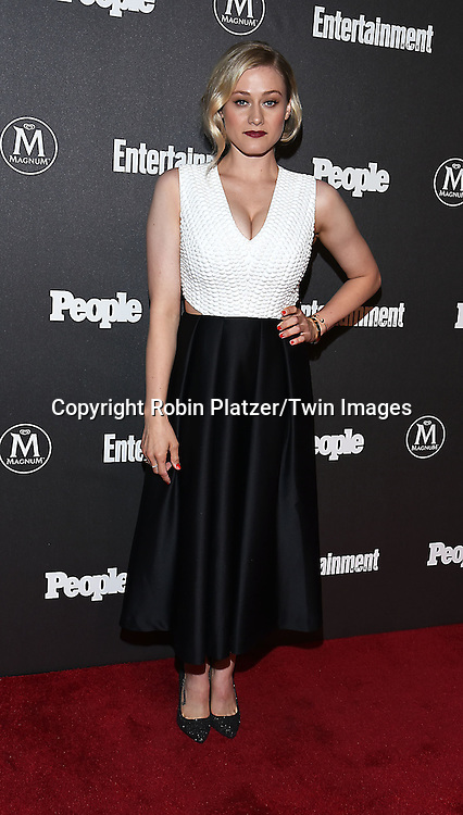 Olivia Dudley attends the Entertainment Weekly &amp; PEOPLE Magazine New York Upfronts Celebration on May 16, 2016 at Cedar Lake in New York, New York, USA.<br /> <br /> photo by Robin Platzer/Twin Images<br />  <br /> phone number 212-935-0770