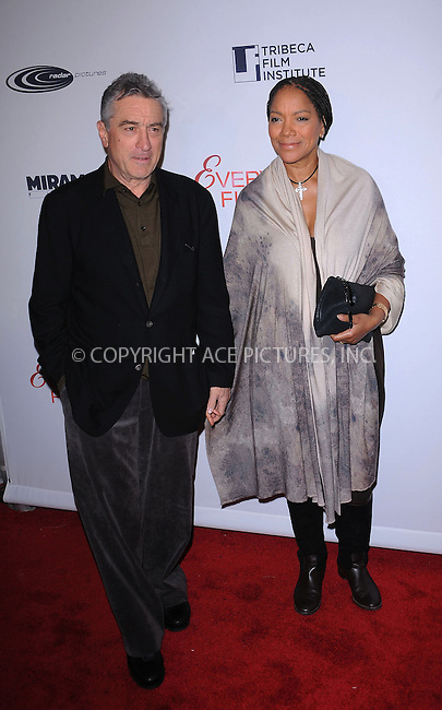 WWW.ACEPIXS.COM . . . . . ....December 3 2009, New York City....Robert De Niro and Grace Hightower arriving at the Tribeca Film Institute benefit screening of 'Everybody's Fine' at AMC Lincoln Square on December 3, 2009 in New YorkCity ....Please byline: KRISTIN CALLAHAN - ACEPIXS.COM.. . . . . . ..Ace Pictures, Inc:  ..(212) 243-8787 or (646) 679 0430..e-mail: picturedesk@acepixs.com..web: http://www.acepixs.com