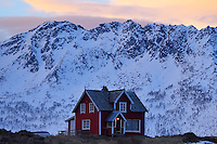 House at Hamn i Senja, Troms county, Norway, Scandinavia