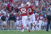 Stanford, CA - September 17, 2016: Casey Toohill during the Stanford vs USC football game at Stanford Stadium. The Cardinal defeated the Trojans 27-10.
