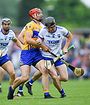 Peter Duggan of Clare  in action against Kevin Moran of Waterford during their Munster  championship round robin game at Cusack Park Photograph by John Kelly.