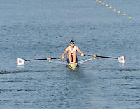 Brest, Belarus. GBR W1X Rosamund BRADBURY, competing in Sat's Semi Final at the 2010. FISA U23 Championships. Saturday,  24/07/2010.  [Mandatory Credit Peter Spurrier/ Intersport Images]