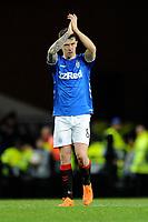 Ryan Jack of Rangers applauds the fans during Rangers vs Villarreal CF, UEFA Europa League Football at Ibrox Stadium on 29th November 2018