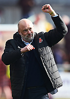 Fleetwood Town manager Uwe Rosler celebrates at the end of the match <br /> <br /> Photographer Richard Martin-Roberts/CameraSport<br /> <br /> The EFL Sky Bet League One - Fleetwood Town v Millwall - Monday 17th April 2017 - Highbury Stadium - Fleetwood<br /> <br /> World Copyright &copy; 2017 CameraSport. All rights reserved. 43 Linden Ave. Countesthorpe. Leicester. England. LE8 5PG - Tel: +44 (0) 116 277 4147 - admin@camerasport.com - www.camerasport.com
