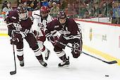 Sebastian Weberg (Colgate - 16), Luke Esposito (Harvard - 9), Kevin Lough (Colgate - 4) -  - The Harvard University Crimson defeated the visiting Colgate University Raiders 7-4 (EN) on Saturday, February 20, 2016, at Bright-Landry Hockey Center in Boston, Massachusetts.