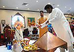 Service at Shri Surya Narayan Mandir in Jamaica Queens, NY on Sunday December 7, 2008.
