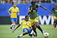 Formiga (bresil) vs Khadija Shaw (jamaique)<br /> Grenoble 09-06-2019 <br /> Football Womens World Cup <br /> Brazil - Jamaica <br /> Brasile - Giamaica<br /> Photo Frederic Chambert / Panoramic/Insidefoto <br /> ITALY ONLY