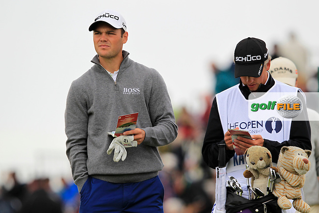 Martin Kaymer (GER) and caddy Christian Donald wait to tee off the 5th tee during Thursday's Round 1 of the 141st Open Championship at Royal Lytham & St.Annes, England 19th July 2012 (Photo Eoin Clarke/www.golffile.ie)