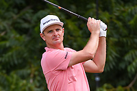 Justin Rose (GBR) watches his tee shot on 6 during round 4 of the 2019 Charles Schwab Challenge, Colonial Country Club, Ft. Worth, Texas,  USA. 5/26/2019.<br /> Picture: Golffile | Ken Murray<br /> <br /> All photo usage must carry mandatory copyright credit (© Golffile | Ken Murray)