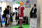 October 17, 2012, Tokyo, Japan - Hina and hina-co by SMD inc., is displayed during Japan Robot Week 2012 at the Tokyo Bigsight. Hina and tina-co is a mannequin, which changes their poses automatically by the Motion Creator system. This was used for a display at Fukuoka PARCO. This exhibition is held to showcase new robots and high technology equipments for visitor. Japan Robot Week 2012 runs from October 17 - 19. (Photo by Yumeto Yamazaki/AFLO)
