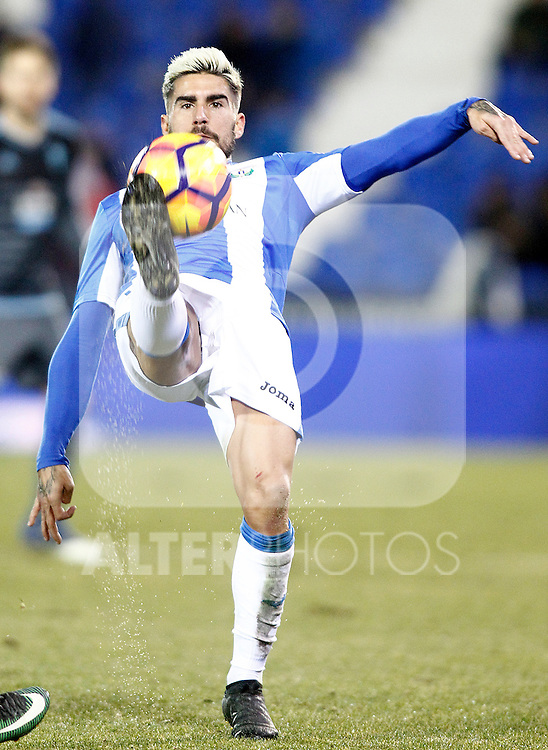 CD Leganes' Diego Rico during La Liga match. January 28,2017. (ALTERPHOTOS/Acero)