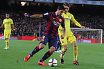 11.02.2015 Barcelona, Spain. Spanish Cup , Semi-final. Picture show Luis Suarez in Action during game between FC Barcelona against Villareal at Camp Nou