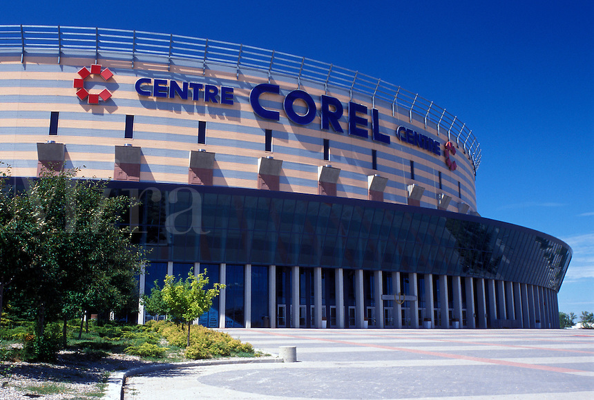 arena, stadium, Canada, Kanata, Ontario, Ottawa, Corel Centre where the NHL Ottawa Senators play ice hockey