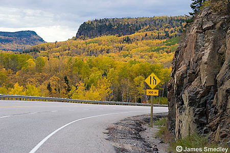 Scenic Highway 17 along Lake Superior
