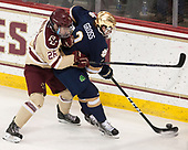 Julius Mattila (BC - 26), Jordan Gross (Notre Dame - 3) - The Boston College Eagles defeated the University of Notre Dame Fighting Irish 6-4 (EN) on Saturday, January 28, 2017, at Kelley Rink in Conte Forum in Chestnut Hill, Massachusetts.The Boston College Eagles defeated the University of Notre Dame Fighting Irish 6-4 (EN) on Saturday, January 28, 2017, at Kelley Rink in Conte Forum in Chestnut Hill, Massachusetts.