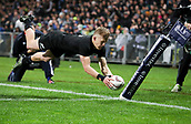 9th September 2017, Yarrow Stadium, New Plymouth. New Zealand; Supersport Rugby Championship, New Zealand versus Argentina; New Zealands Damian McKenzie scores