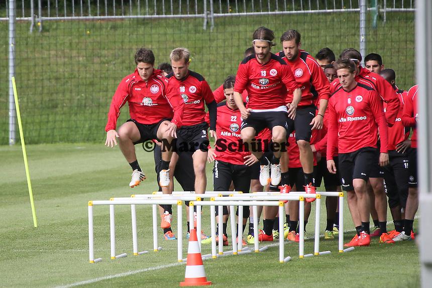 Pirmin Schwegler und Martin Lanig (Eintracht) - Eintracht Frankfurt Training, Commerzbank Arena