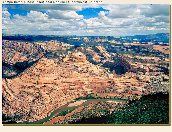 Famous for river rafting, the Yampa River winds through Dinosaur National Monument, northwest Colorado. John leads private photo tours throughout Colorado, year-round.