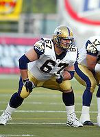 Eric Wilson Winnipeg Blue Bombers 2003. Photo Scott Grant