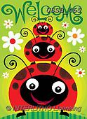 Sarah, CHILDREN BOOKS, BIRTHDAY, GEBURTSTAG, CUMPLEAÑOS, paintings+++++LadyBugs-17-A,USSB465,#BI#, EVERYDAY