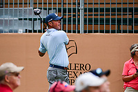 Matt Kuchar (USA) watches his tee shot on 17 during round 1 of the Valero Texas Open, AT&amp;T Oaks Course, TPC San Antonio, San Antonio, Texas, USA. 4/20/2017.<br /> Picture: Golffile | Ken Murray<br /> <br /> <br /> All photo usage must carry mandatory copyright credit (&copy; Golffile | Ken Murray)