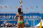30.05.2015, Moskau, Vodny Stadion<br /> Moskau Grand Slam, Main Draw / Viertelfinale<br /> <br /> Aufschlag / Service Talita Antunes (#2 BRA)<br /> <br />   Foto &copy; nordphoto / Kurth