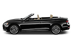 Car Driver side profile view of a 2019 Audi A5-Cabriolet Premium-Plus 2 Door Convertible Side View