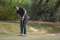 Yusaku Miyazato (JAP) watches his putt on 7 during round 1 of the World Golf Championships, Dell Match Play, Austin Country Club, Austin, Texas. 3/21/2018.<br /> Picture: Golffile | Ken Murray<br /> <br /> <br /> All photo usage must carry mandatory copyright credit (&copy; Golffile | Ken Murray)
