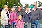 Maria O'Sullivan, Ciana Lynch, Chrissy O'Carroll, Leanne Lynch, Jack Keane and Eoin Keane Asdee looking for winners at Castleisland Races on Saturday..