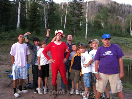 scout camp. Camp Frontier. Tuesday, July 21 2009.ben hacker, unruh, watchman, perry hacker, trent nelson, Noah Nelson, chandler, dude in long johns. sam hacker