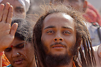 pilgrim at Kumbha Mela Haridwar India